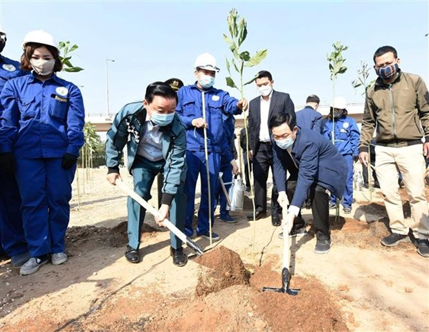 河内市启动2021辛丑年春季植树节活动 hinh anh 2