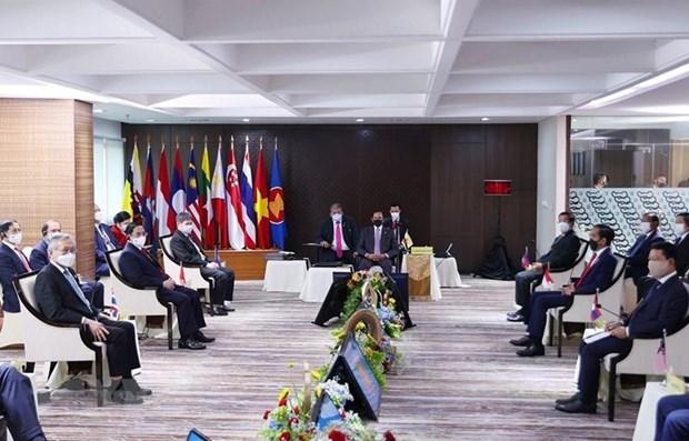 东盟各国领导人讨论缅甸问题 hinh anh 1