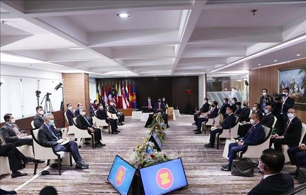 越南政府总理范明政出席东盟领导人会议 hinh anh 2