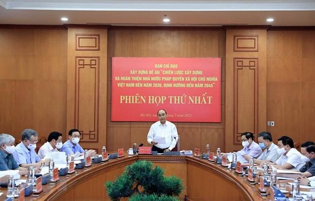 国家主席:促进法治国家建设 更好为民服务 hinh anh 1