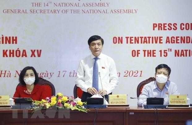 越南第十五届国会第一次会议将于本月20日召开 国家级人事安排是重点 hinh anh 1