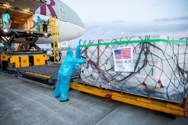 另有通过COVAX机制援助的300万剂新冠疫苗运抵越南 hinh anh 1