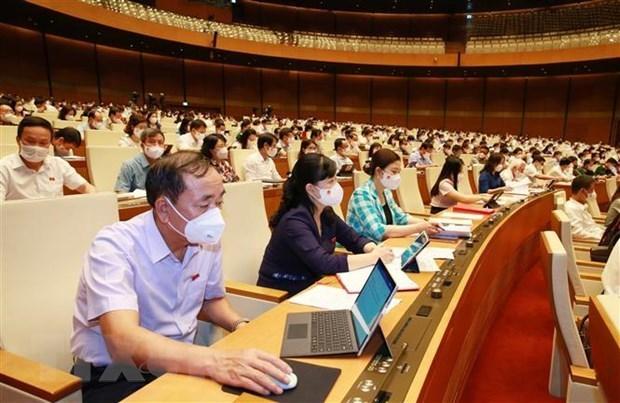 越南第十五届国会第一次会议议程最后一周:投票选举国家重要职务 hinh anh 1