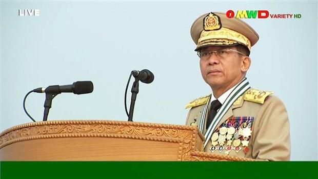 缅甸承诺与东盟特使合作 hinh anh 1