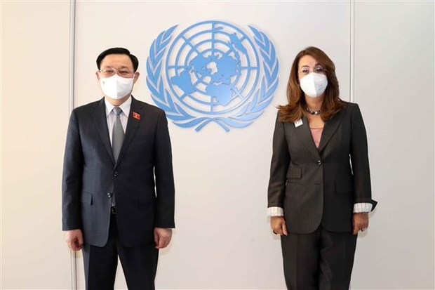 国会主席王廷惠会见联合国维也纳办事处总干事加达·瓦利 hinh anh 1