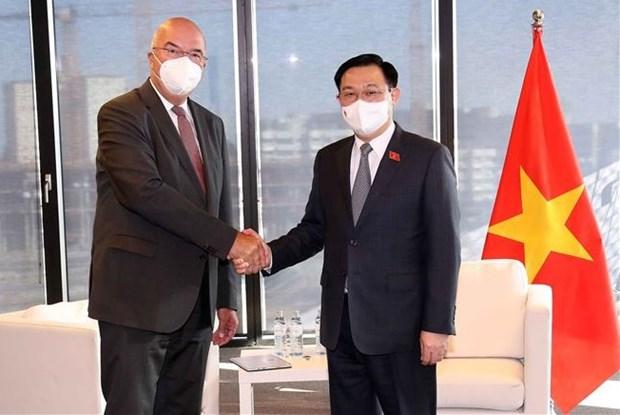 越南国会主席王廷惠会见奥地利部分企业代表 hinh anh 1