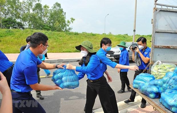 响应越共中央总书记的号召首都河内近5000名青年志愿者奔赴各地参与防疫工作 hinh anh 1