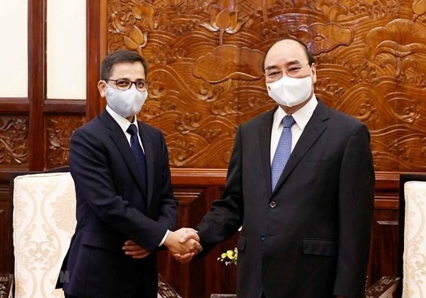 国家主席阮春福会见印度驻越大使普拉奈·维尔马 hinh anh 1