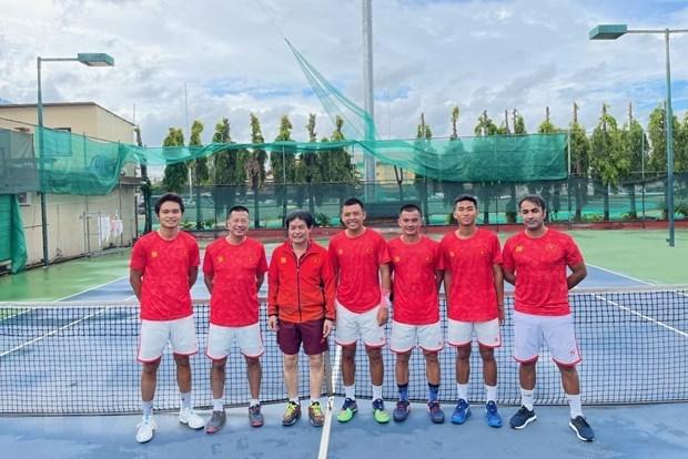 越南网球队获得2022年世界戴维斯杯男子网球集体赛世界二组附加赛的入场券 hinh anh 1